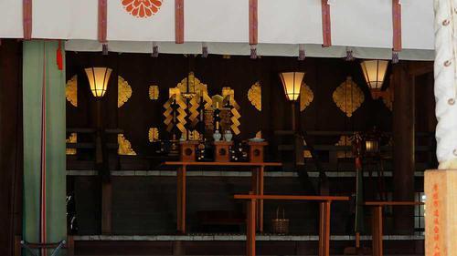 滋賀縣護国神社 本殿のようす