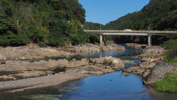 瀬田川と信楽川の合流地点