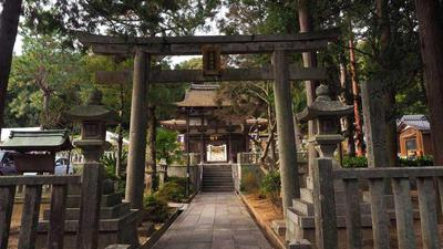 大野神社 正面鳥居から楼門