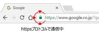 Googleは緑の鍵マークが表示され、安心だという事