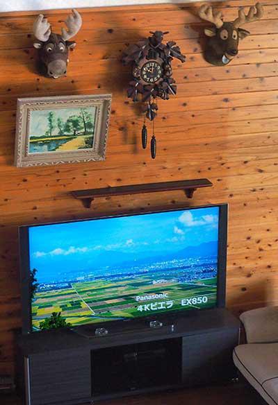 テレビをリビングへ設置した状態